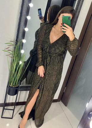 👗золотое длинное платье/нарядное блестящее платье в пол/нового...