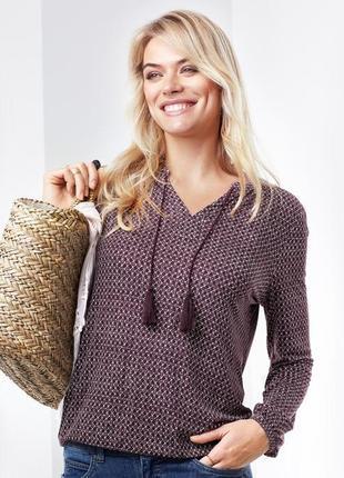 Блузка свободного кроя с минималистичным принтом tchibo, германия