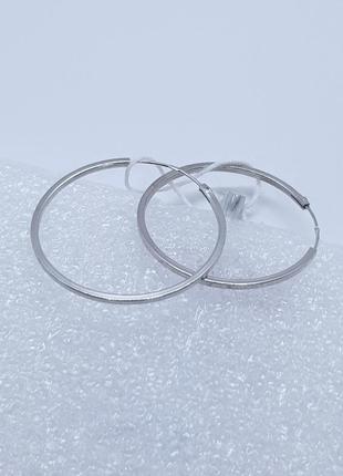 Серебряные серьги кольца 925 проба