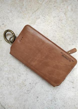 Кожаный кошелёк-чехол для телефона бренд floveme