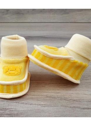 Красивые пинетки чепчики для новорожденного