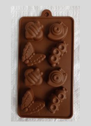 Форма (силикон) для конфет, 8 штук в блоке