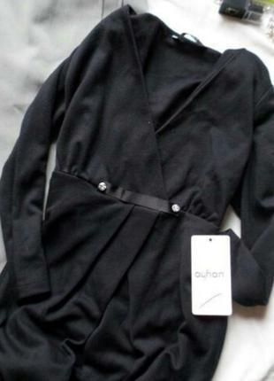 Новое черное платье на запах для беременных