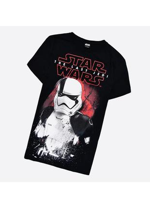 Star wars s / мужская чёрная футболка с принтом