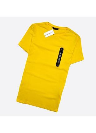 Lcw casual s / мужская новая хлопковая жёлтая футболка с биркой