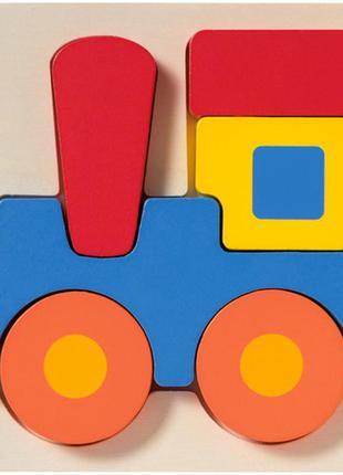 Деревянный пазл-вкладыш паровоз playtive