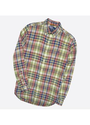 Polo ralph lauren m / мужская классическая рубашка в клетку