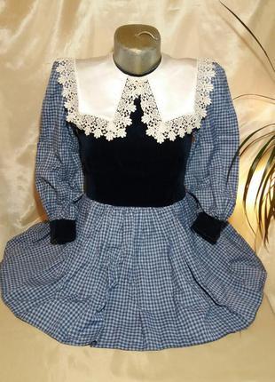 Нарядное платье для девочки с длинным рукавом