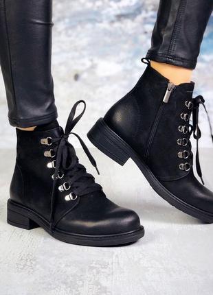 Натуральный нубук классические кожаные осенние ботинки на шнурках