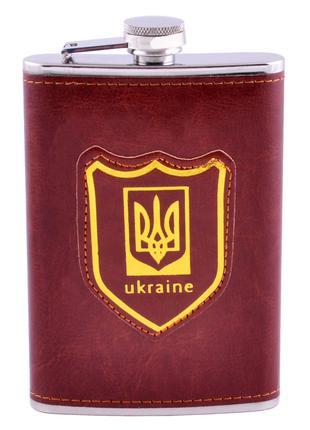Фляга обтянута кожей (256мл) Украина PB-9