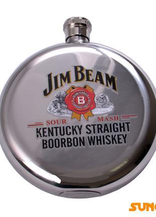 Фляга солдатская Jim Beam из пищевой нержавеющей стали №MN-E-1