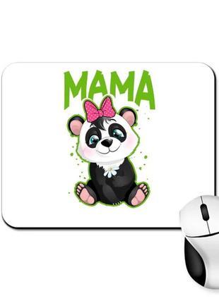 """Коврик для мыши с принтом """"мама панда"""""""