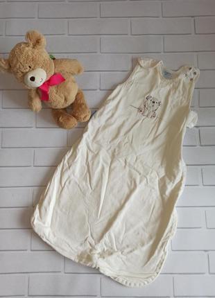 Спальник детский белый молочный, пелёнка спальник для новорожд...