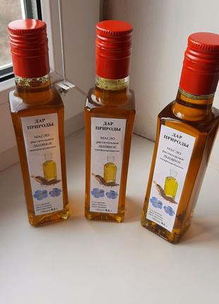 Льняное масло горячего отжима (лляна олія, олійка, лляное масло)