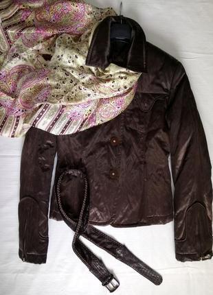 Куртка деми со съемным натуральным мехом