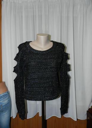 ✅красивый свитерок с разрезами на рукавах(фабричный)рр 44-48 л...