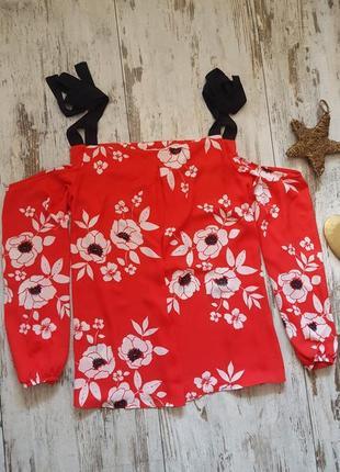Блузка  легкая с длинным рукавом