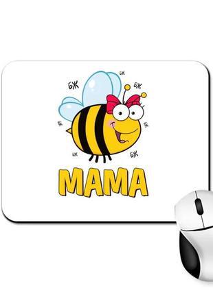 """Коврик для мыши с принтом """"пчелка мама"""""""