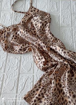 Ночная сорочка рубашка пеньюар модный принт  р.48-50