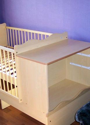 Детская кровать трансформер детская кровать пеленальный стол