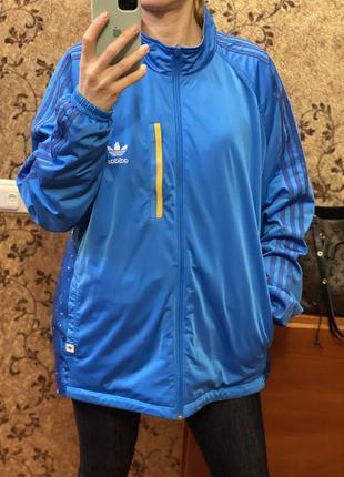 Оригинальная двухсторонняя куртка дождевик ветровка