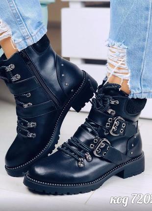 Стильные осенние ботинки на низком каблуке,демисезонные ботинк...
