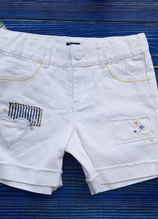 Котоновые шорты для девочки на 5-6 лет
