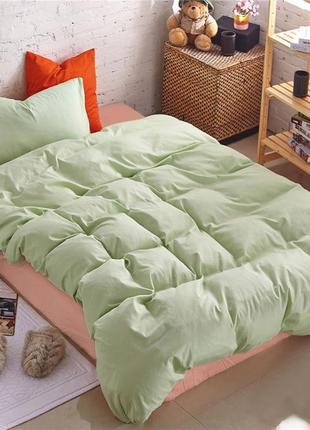 Подростковый комплект постельного белья Сатин Премиум коралл +...