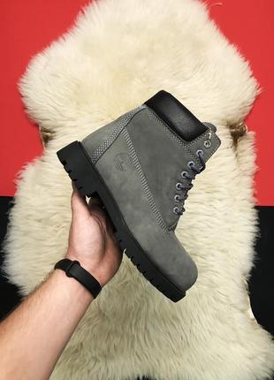 Ботинки timberland gray fure с мехом