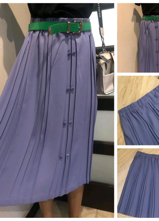 Тонкая лёгкая лиловая юбка