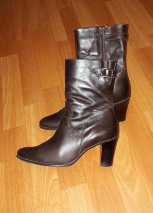 Кожаные сапоги ботинки на термоподкладке
