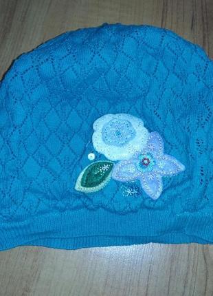 Берёзовая шапка демисезонная на 4-6 лет