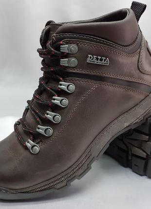Распродажа!зимние коричневые ботинки под кроссовки detta