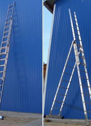 Лестница - стремянка 3х7 3х8 3х9 3х10 3х12 KRAFT GERMANY Profe...