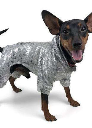 Хит сезона! Костюм для собак с серебряным покрытием!