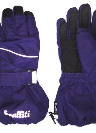 Термоварежки непромокаемые перчатки 8-10 лет graffiti