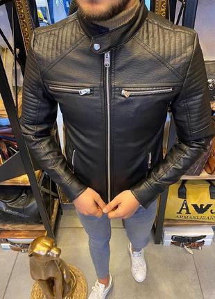 Мужская кожанка / кожаная куртка / мужская куртка