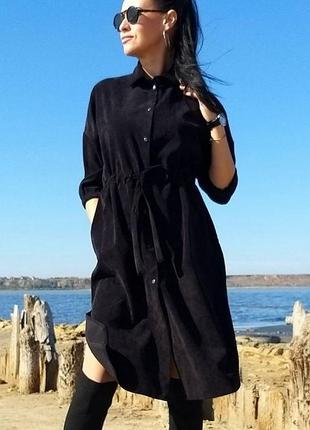Платье рубашка,платье вельвет