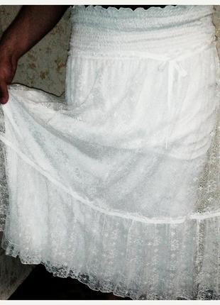 Шикарная новая юбка, кружевная, оригинал ermanno scervino