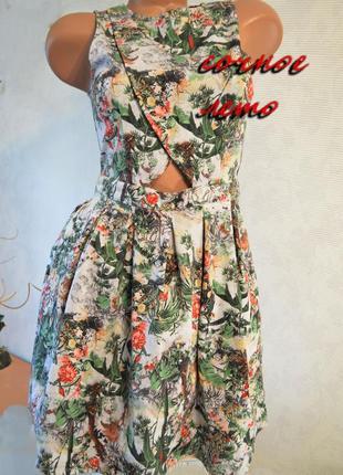Платье сарафан стиль, бренд, с летним принтом