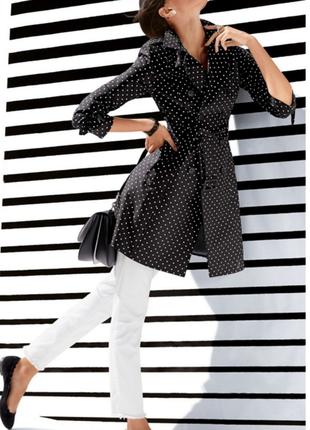 Тренч стильный, m&co, горохи.распродажа брендовых вещей и обуви!