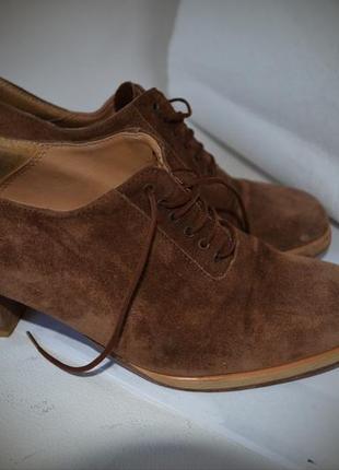 Туфли vero cuoio, на шнурке, натуральная замша, 23,5см