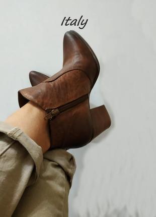 Ботинки чопперы с острым носом novocento,летняя цена!