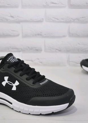 Мужские кроссовки Under Armour Hovr черные с белой подошвой