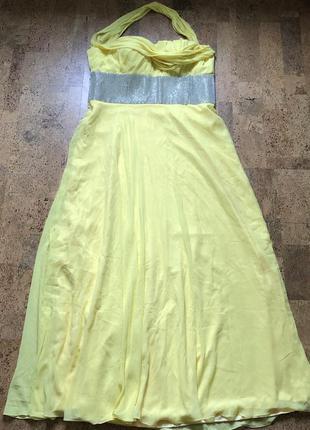 Шикарное вечернее платье на большую грудь выпускное шифоновое ...