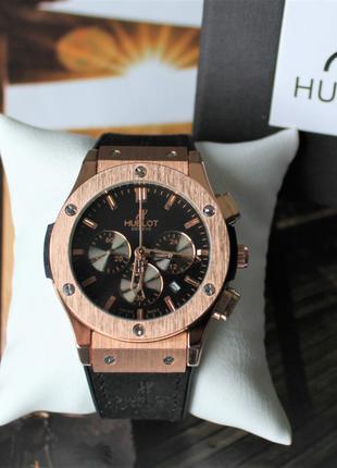 Наручные часы Hublot Chronograph black&bronze