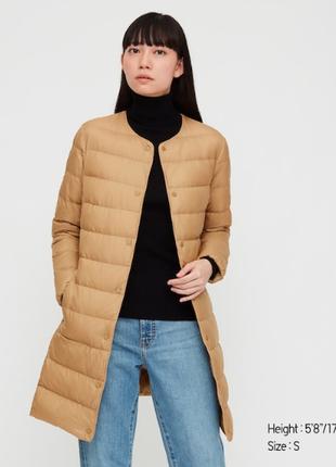 Пальто, плащ, пуховик, поддев от uniqlo япония