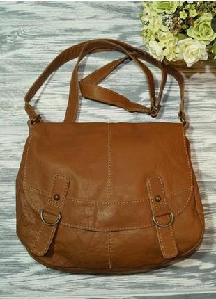 Кожаная женская сумка через плече кросс-боди