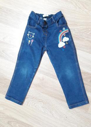 Детские джинсы 2-3 года m&s