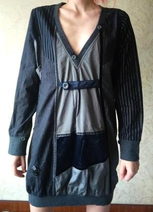 Платье Desigual теплое с длинными рукавами